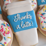 Custom Cookies - Thank You | Thanks a Latte! - Southern Sugar Bakery