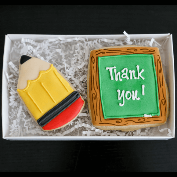 Custom Cookies - Thank You Cookies  | Teacher! - Southern Sugar Bakery