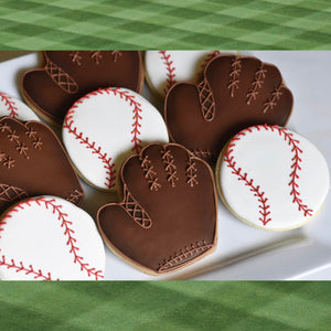 Custom Cookies - Sports: Baseball Cookies | Home Run!! - Southern Sugar Bakery