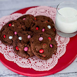 Custom Cookies - Valentine | Triple Chocolate Brownie Cookies - Southern Sugar Bakery