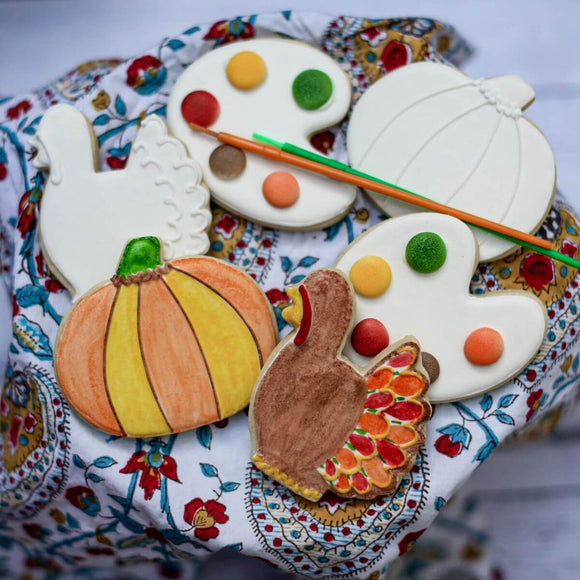 Custom Cookies - Thanksgiving |  Paint Your Own Cookies! - Southern Sugar Bakery
