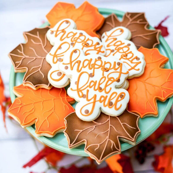 Custom Cookies - Fall Set- Happy Fall Y'all! - Southern Sugar Bakery