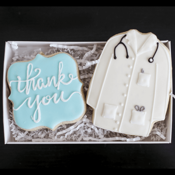 Custom Cookies - Thank You | Doc! - Southern Sugar Bakery