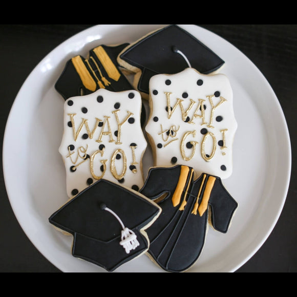 Custom Cookies - Way to Go Grad! - Southern Sugar Bakery