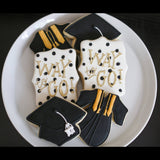 Way to Go Grad! | Decorated Graduation Cookies