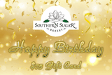Custom Cookies - Birthday Gold Gift Card - Southern Sugar Bakery