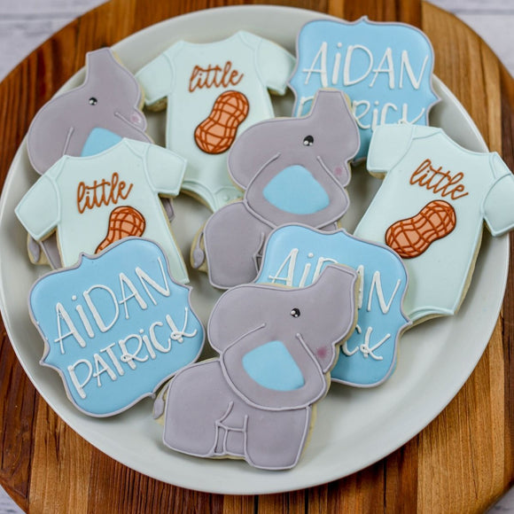 Custom Cookies - Baby Events | Little Peanut - Southern Sugar Bakery