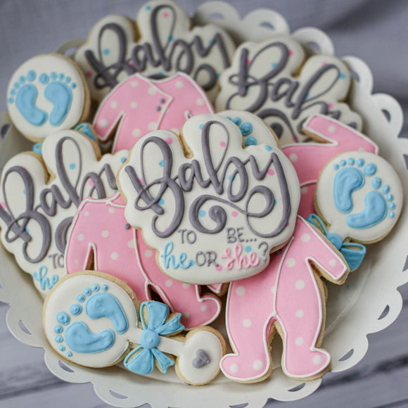 Custom Cookies - Baby To Be - What Will It Be??! - Southern Sugar Bakery
