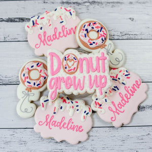 Custom Cookies - Birthdays | Let's Go Donuts - Southern Sugar Bakery
