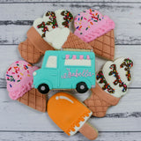 Custom Cookies - Birthdays | Ice Cream Surprise - Southern Sugar Bakery