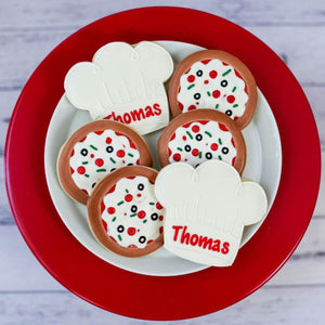 Custom Cookies - Birthdays | Pizza Party - Southern Sugar Bakery