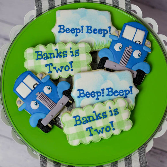 Custom Cookies - Birthdays | Little Blue Truck - Southern Sugar Bakery