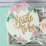 Custom Cookies - Wedding Events - Bride to Be Duo - Southern Sugar Bakery