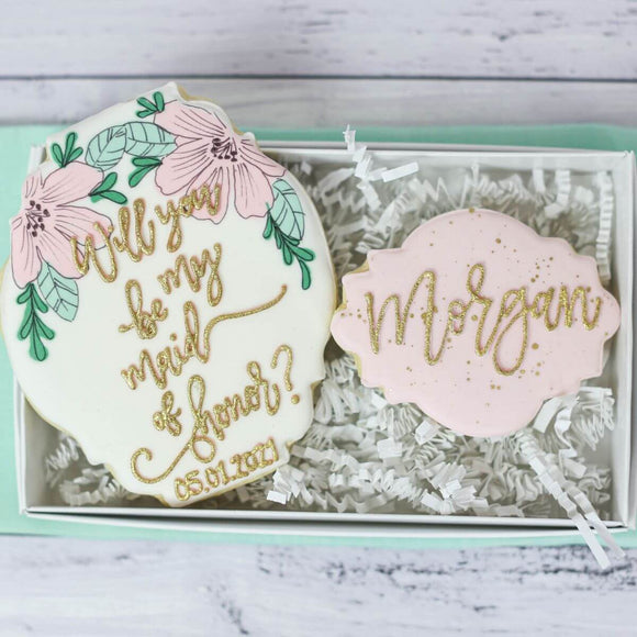 Custom Cookies - Bridal Events | Will You Be My Bridesmaid - Southern Sugar Bakery