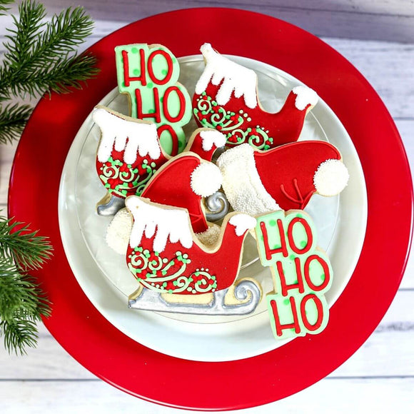 Custom Cookies - Christmas Set | Holly Jolly - Southern Sugar Bakery