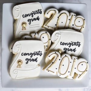 Custom Cookies - Congrats Grad! with Year - Southern Sugar Bakery