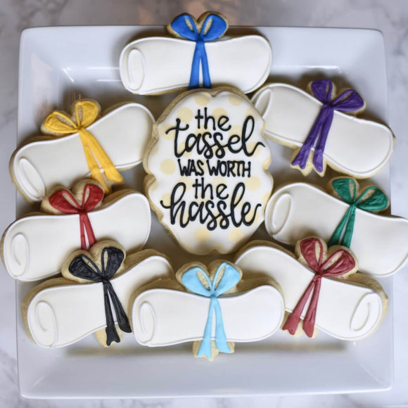 Custom Cookies - Move Your Tassel! - Southern Sugar Bakery