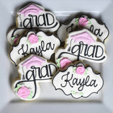 Custom Cookies - Beautiful Graduate! - Southern Sugar Bakery