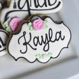 Beautiful Graduate! | Decorated Graduation Cookies | Name Plaque