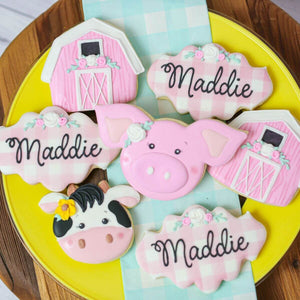 Custom Cookies - Birthdays | Little Farmer Girl - Southern Sugar Bakery