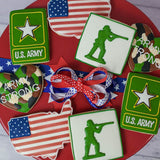 Custom Cookies - Military Collection- Army - Southern Sugar Bakery