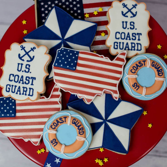 Custom Cookies - Military Collection - Coast Guard - Southern Sugar Bakery
