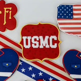 Custom Cookies - Military Collection - USMC - Southern Sugar Bakery