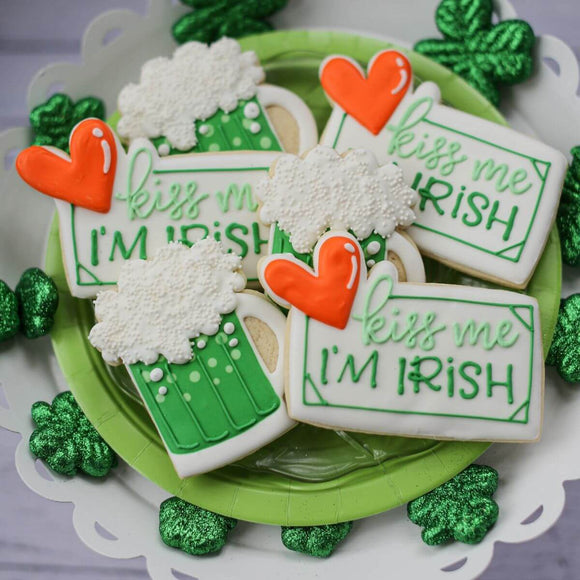 Custom Cookies - Saint Patrick's Day | Pucker Up! - Southern Sugar Bakery