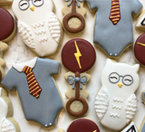 Custom Cookies - Welcome Little Muggle! - Southern Sugar Bakery