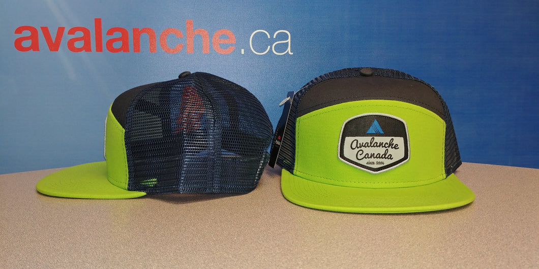 Tradesman Style AvCan Cap - Bright Lime Green / Navy