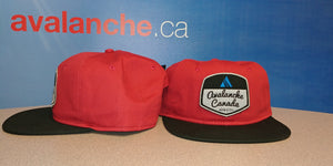 AvCan Cap - Scarlet Red w/ Black Visor -Soft Crown