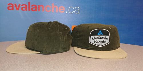 AvCan Cap - Dark Olive Corduroy w/ Tan Visor-Soft Crown