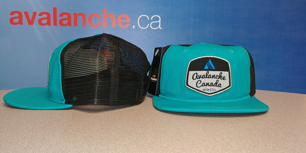AvCan Cap - Teal w/ Black Mesh Back -Soft Crown