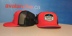 AvCan Cap - Bright Red Mesh Back -Curved Visor