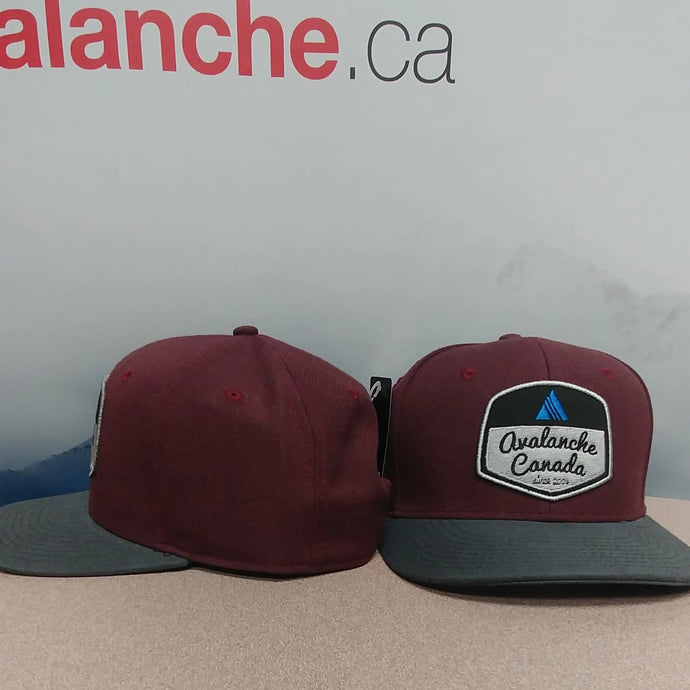 AvCan Cap - Maroon Cotton Twill w/ Twill Graphite Curved Visor