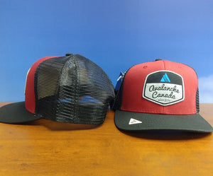 AvCan Cap - Big Fit Crimson with Black Trucker Mesh Back