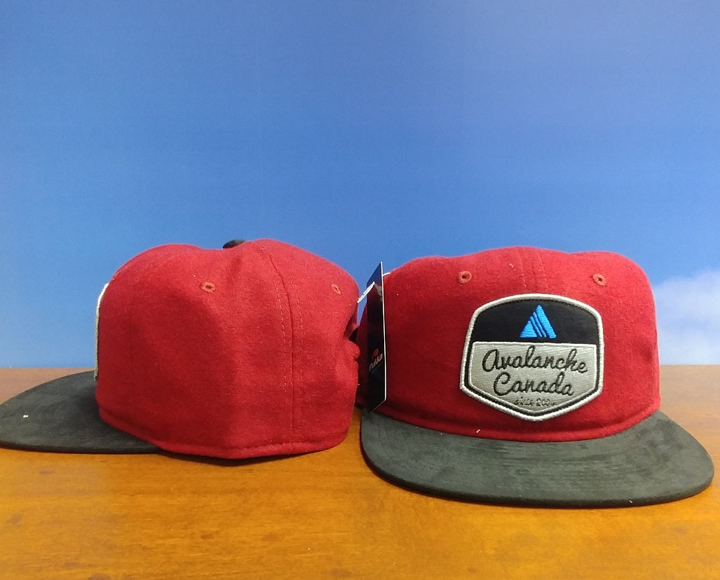 AvCan Cap - Brick Red Flannel w/ Black Visor-Soft Crown