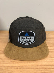 Tradesman Style AvCan Cap - Moss Flannel and Tan Suede