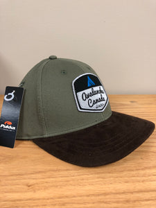 AvCan Cap - Olive and Brown Suede Baseball Style
