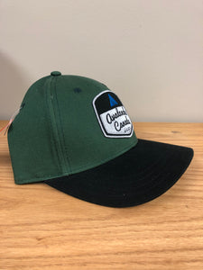 AvCan Cap - Hunter Green with Black Baseball Style