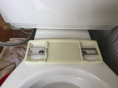 Metal guide rails for bidet seat installation