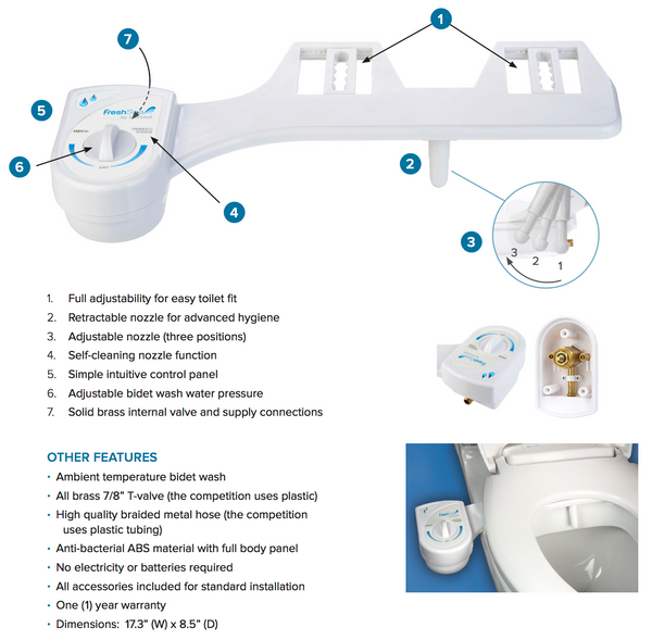 Brondell FreshSpa easy bidet attachment