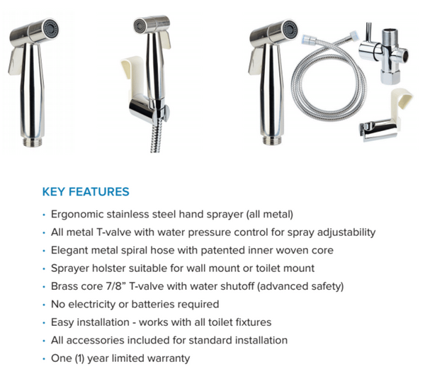 Brondell Hand held bidet sprayer Luxury