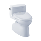 TOTO® Connect+® Kit Carolina® II One-Piece Elongated 1.28 GPF Toilet and Washlet® S300e Bidet Seat, Cotton White - MW644574CEFG#01
