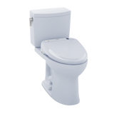 TOTO® Connect+® Kit Drake® II 1G® Two-Piece Elongated 1.0 GPF Toilet and Washlet® S300e Bidet Seat, Cotton White - MW454574CUFG#01