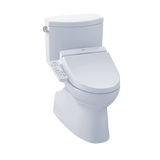 TOTO® Connect+® Kit Vespin® II Two-Piece Elongated 1.28 GPF Toilet and Washlet® C100 Bidet Seat, Cotton White - MW4742034CEFG#01