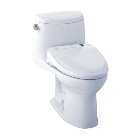 TOTO® Connect+® Kit UltraMax® II One-Piece Elongated 1.28 GPF Toilet and Washlet® S350e Bidet Seat, Cotton White - MW604584CEFG#01