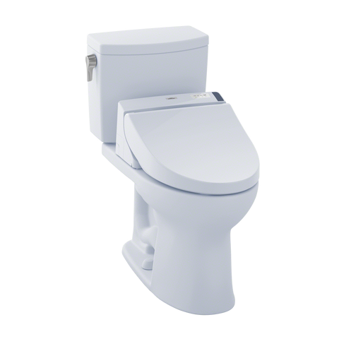 TOTO® Connect+® Kit Drake® II 1G® Two-Piece Elongated 1.0 GPF Toilet and Washlet® C200 Bidet Seat, Cotton White - MW4542044CUFG#01