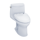 TOTO® Connect+® Kit UltraMax® II 1G® One-Piece Elongated 1.0 GPF Toilet and Washlet® S300e Bidet Seat, Cotton White - MW604574CUFG#01