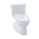 TOTO® Connect+® Kit Vespin® II Two-Piece Elongated 1.28 GPF Toilet and Washlet® S350e Bidet Seat, Cotton White - MW474584CEFG#01